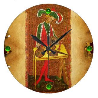 ANTIQUE RENAISSANCE TAROTS 1 /THE MAGICIAN LARGE CLOCK