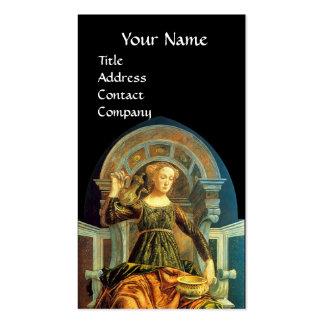 ANTIQUE RENAISSANCE TAROTS / TEMPERANCE BUSINESS CARD