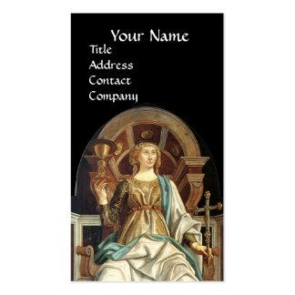 ANTIQUE RENAISSANCE TAROTS THE POPE  Black Business Card
