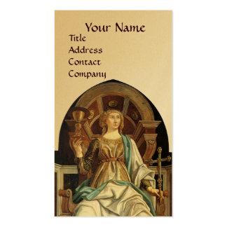 ANTIQUE RENAISSANCE TAROTS THE POPE Gold Business Cards