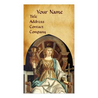 ANTIQUE RENAISSANCE TAROTS THE POPE  PARCHMENT BUSINESS CARDS