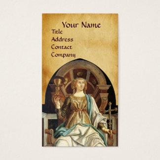 ANTIQUE RENAISSANCE TAROTS THE POPE  PARCHMENT BUSINESS CARD