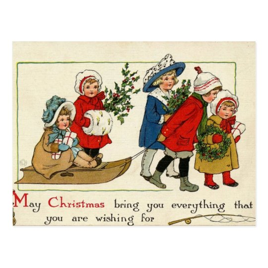 Antique Reproduction Christmas card