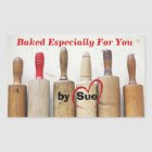 "Antique Rolling Pins ""Baked by YOU"" Treat Labels"