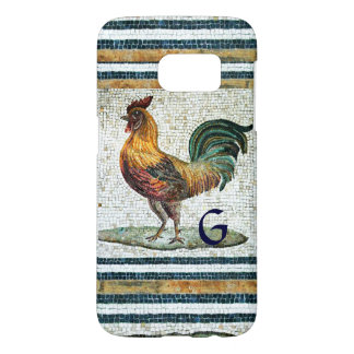 ANTIQUE ROMAN MOSAICS / ROOSTER MONOGRAM SAMSUNG GALAXY S7 CASE