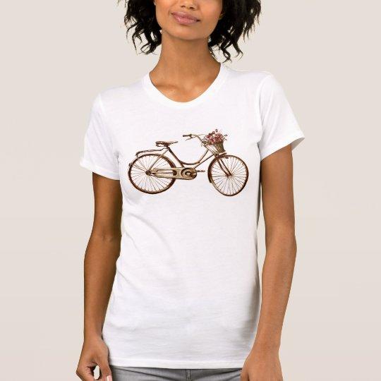 Antique Romantic Vintage Bicycle  Flowers & Roses T-Shirt