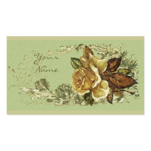 Antique Rose Business Card Templates