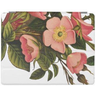 Antique Rose Flower Art Illustration Drawing iPad Cover