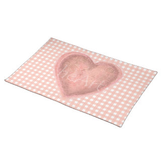 Antique Rose Heart Placemat