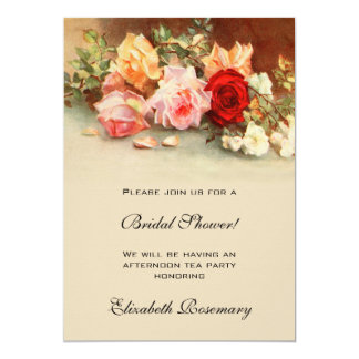 Antique Roses Flowers Floral Vintage Bridal Shower Card