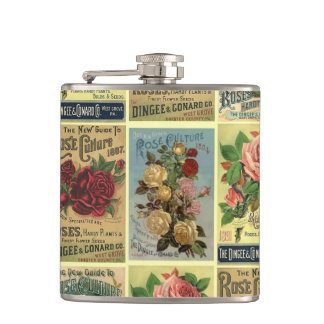 Antique Roses Heirloom Rose Garden Flask