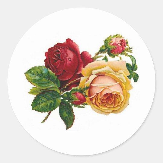 Antique Roses - Sticker