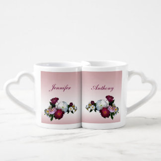 Antique Roses Wedding Lovers Mugs