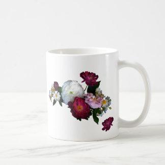 Antique Roses Wedding Basic White Mug