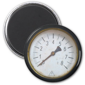 Antique Round Pressure Meter Gauge Fridge Magnet