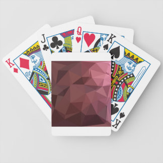 Antique Ruby Abstract Low Polygon Background Bicycle Playing Cards