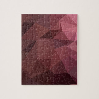 Antique Ruby Abstract Low Polygon Background Puzzle