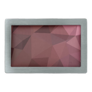 Antique Ruby Abstract Low Polygon Background Rectangular Belt Buckle