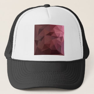 Antique Ruby Abstract Low Polygon Background Trucker Hat
