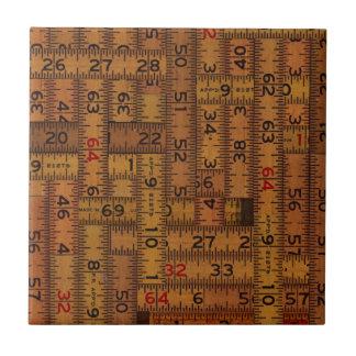 Antique Ruler Measured Pattern Ceramic Tile