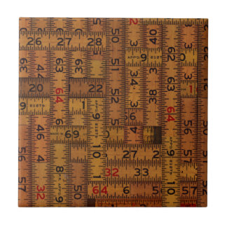 Antique Ruler Measured Pattern Tile