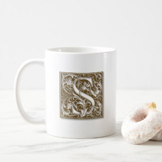 Antique S Monogram Coffee Mug