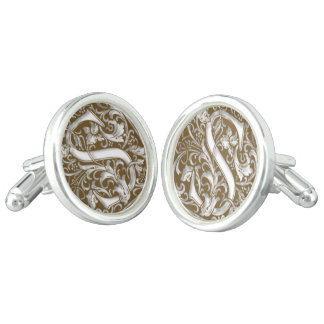 Antique S Monogram Cuff Links