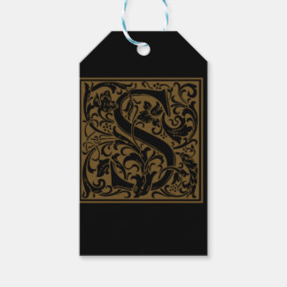 Antique S Monogram Gift Tags