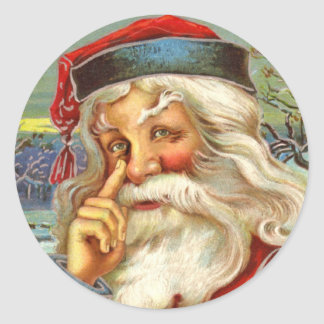 Antique Santa Christmas Stickers