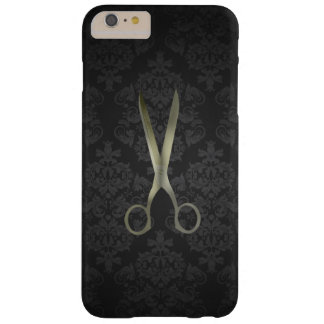 Antique Scissor Black Damask Barely There iPhone 6 Plus Case