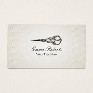 Antique Scissor Hair Stylist Vintage Business Card