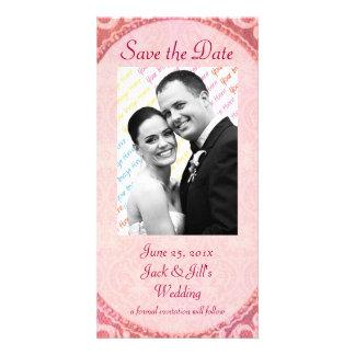 "Antique Scroll Wedding ""Save the Date"" Custom Photo Card"
