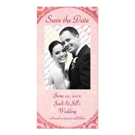 "Antique Scroll Wedding ""Save the Date"" Custom Photo Card"