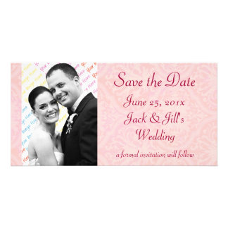 """Antique Scroll Wedding """"Save the Date"""" Photo Card Template"""