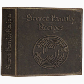 Antique Secret Family Recipes Vinyl Binders
