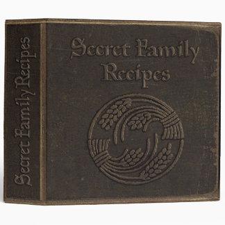 Antique Secret Family Recipes Vinyl Binders