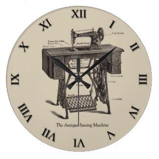 Antique Sewing Machine Clock