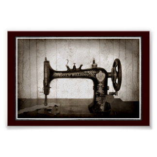 Antique Sewing Machine Poster