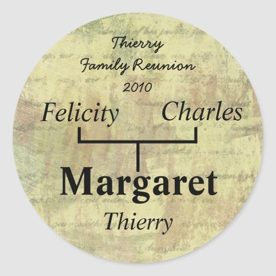 Antique Shabby Family Tree Sticker