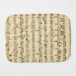 Antique Sheet Music Burp Cloths