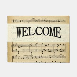 Antique Sheet Music Doormat