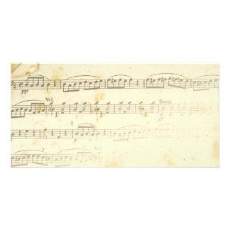 Antique Sheet Music Photo Card Template