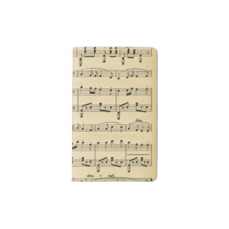 Antique Sheet Music Pocket Moleskine Notebook