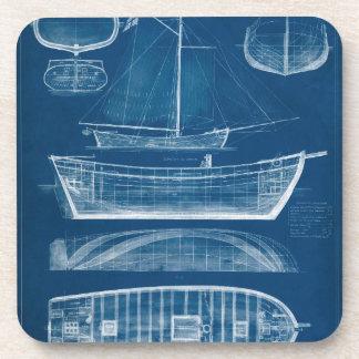 Antique Ship Blueprint II Coaster