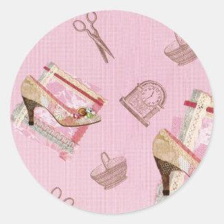 Antique Shoes_Pink Sticker