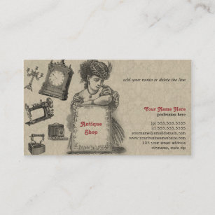 Art dealer business cards profile cards zazzle ca antique shop antique dealer vintage art business card reheart Image collections