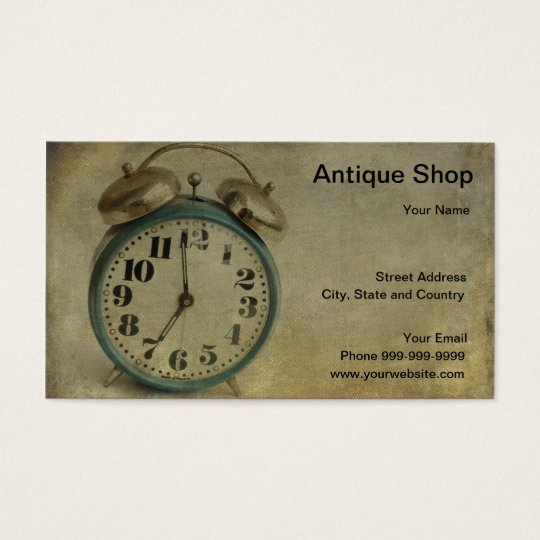 Antique Shop Business Card