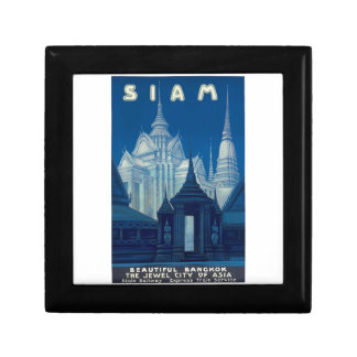 Antique Siam Bangkok Temples Travel Poster Gift Box