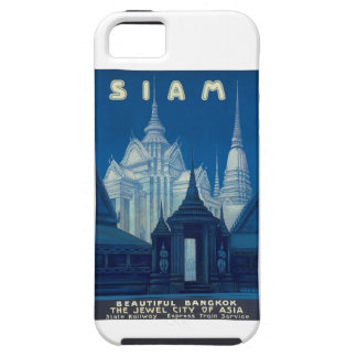 Antique Siam Bangkok Temples Travel Poster iPhone 5 Cases