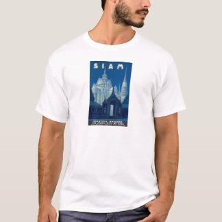 Antique Siam Bangkok Temples Travel Poster T-Shirt